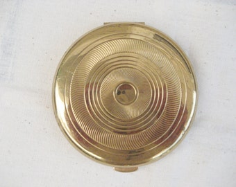 Coty Air Spun Goldtone Compact  with Mirror Vintage 1950s Ladies Powder Compact