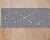Personalized Infinity Love Symbol Wall Canvas Love Wedding Engagement Gift Valentine's Day