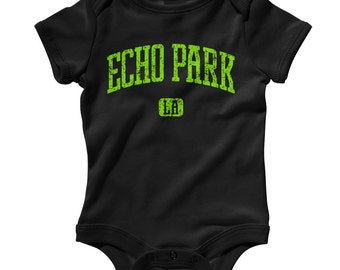 Baby Echo Park LA Romper - Infant One Piece - NB 6m 12m 18m 24m - Los Angeles Baby, Echo Park Baby - 3 Colors