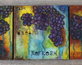 Original Abstract Paintings - 3 - positive images, inspirational, small paintings, 12x12