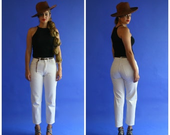 white gap denim pants / white denim jeans/ small / 1990s