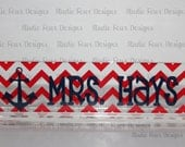 Personalized CHEVRON Desk Nameplate/ Office Desk Name Plate / Office Decor / Office Accessory Decor - Nautical Theme Nameplate