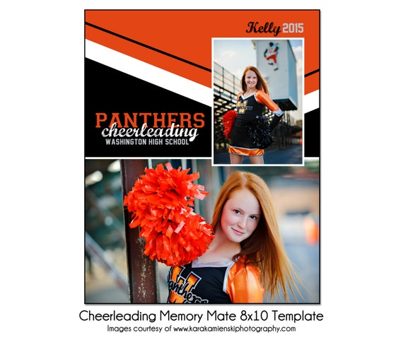cheerleading mm3 8x10 memory mate sports photo template. Black Bedroom Furniture Sets. Home Design Ideas