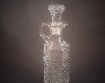 Anchor Hocking Crystal Wexford Glass Cruet Vintage