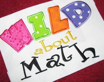 Wild About Math Machine Applique Embroidery Design - 4x4, 5x7 &6x8