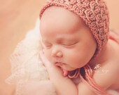 Knitting Pattern - Elisabeth Knit Bonnet - Newborn Photography Prop