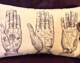 Vintage Palm Reading Pillow