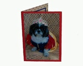 Shih Tzu Blank Card, Snow White Greeting Card, Handmade Dog Card