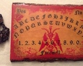 "Ouija Board ""Blood God"" / Spirit Board / Handmade Ouija Board"