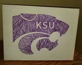 Kansas State Wildcat Inspired String Art