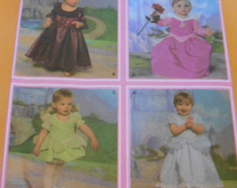 Simplicity 4949,  Disney Princess Costumes, Toddlers,  Size: 1/2-1-2-3-4