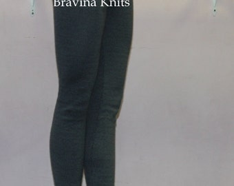 Knitted professional dance tights/leggings  Men/Women, GREY