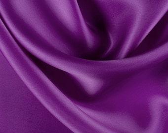 "54"" Wide 100% Silk Satin Organza Grape Purple by the yard"