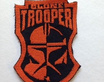Iron On Patch - Embroidered  Star Wars CLONE TROOPER Iron-on Sew-on Patch