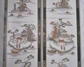 Vintage Chinoiserie Panels, Pair