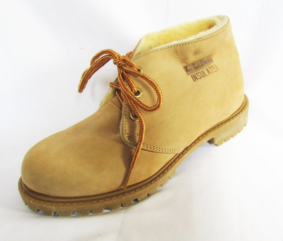 Vintage Insulated Boots L L Bean Work Boots 80s Nos 6 5m