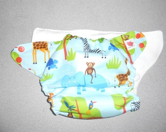 Trim One Size Jungle Party Animal Pocket Diaper