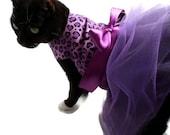 Cat Dress Cat Clothes Purple and Black Leopard Cat Tutu Dress pet clothing cat clothing pet clothes