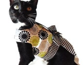 Black and White Mod Floral Cat Harness pet clothing cat clothing pet clothes cat clothes