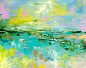 Reserved for Dawn - Abstract Landscape 'Bring me the Horizon' - acrylic painting on canvas - size 40cm x 40cm