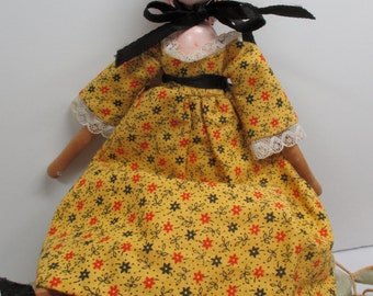Shackman wooden doll with Polly Shorrock  Doll brochure and pattern