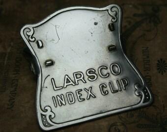 Vintage Larsco Index Clip - Office Paper Clip
