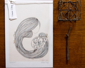 Iemanjá - Archival Print - size A4 (8.2x11.7 inches)
