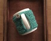 Crochet MUG COZY SLEEVE - great Back to School teacher gift!