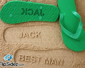 Groomsmen Flip Flops Personalized Groom Best Man Groomsmen Gift Wedding