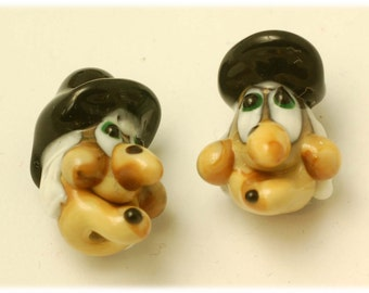 Handmade Lampwork Glass Bead --- Halloween Witches (2)