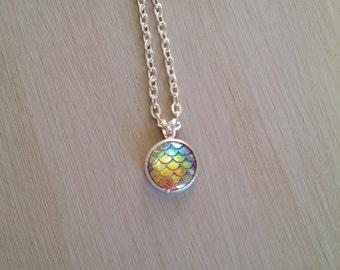 GOLDFISH mermaid scale necklace