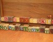 Vintage Blocks, Building Blocks, Toy, ABC Blocks, Photography Prop, Blocks, Home Decor, Children's Room