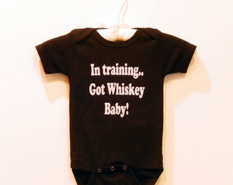 GAG GIFT-Got Whiskey Baby in Training Onesie-Party Favor-Baby shower