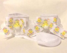 Easter Chick Designer Ruffle Socks...Infants,Toddlers & some BigGirls,Easter,Spring,Photo Prop,Easter Sunday,Dog Accessory
