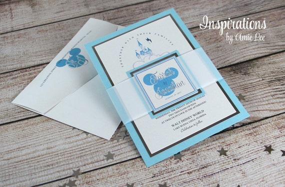 Wedding Invitations Disney: Items Similar To Disney Wedding Invitations On Etsy