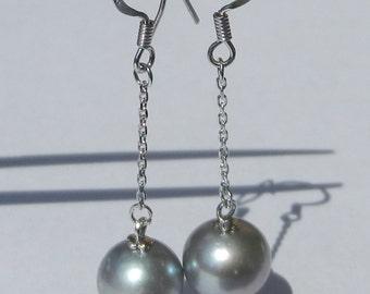 Natural Akoya Pearl Earrings Solid 925 Sterling Silver