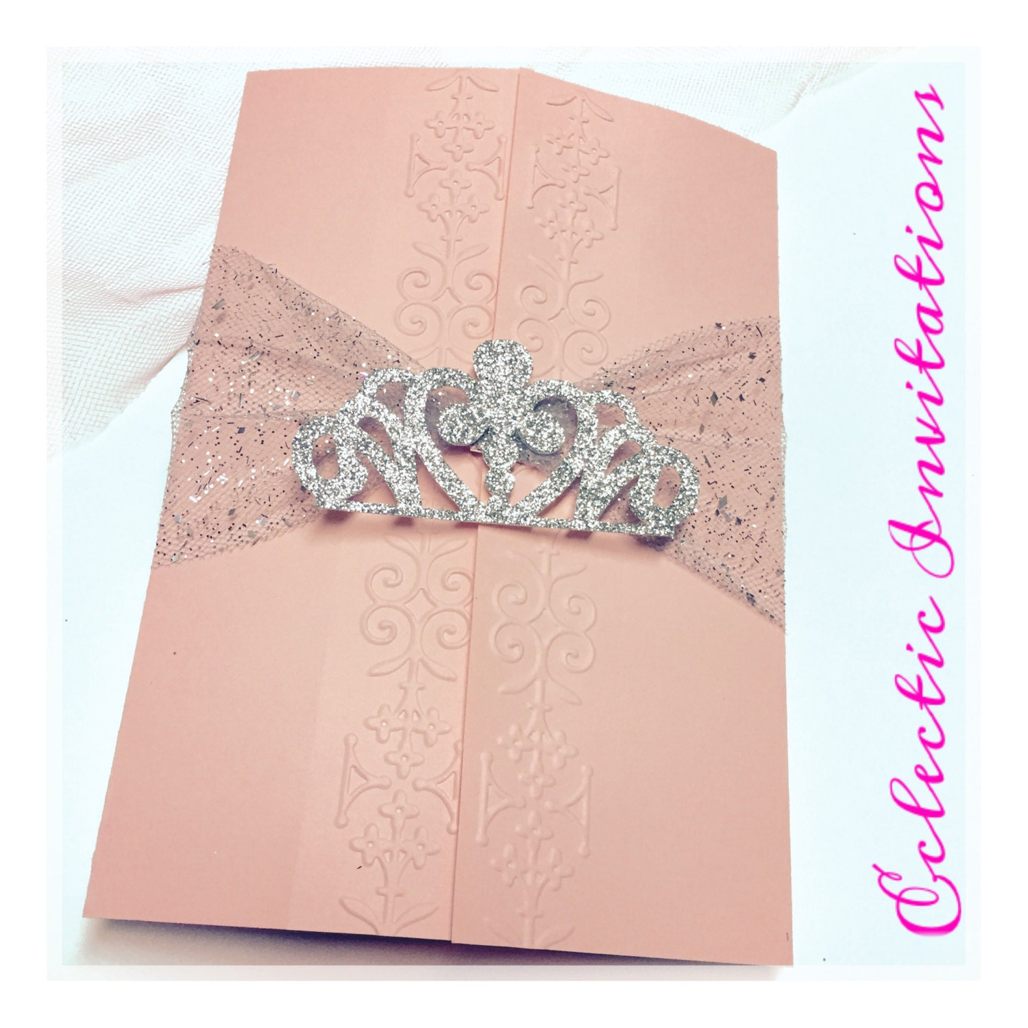50 Pink Princess Invitations Quinceañera Sweet 16 birthday
