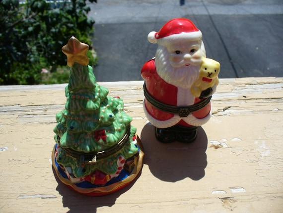 2 Christmas Trinket Boxes