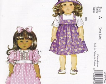 18 Inch Doll Wardrobe Pattern McCalls 6267 Uncut