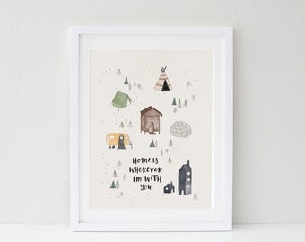 Home Is Wherever I'm With You Print A4