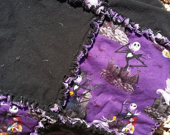The Nightmare Before Christmas Rag Quilt