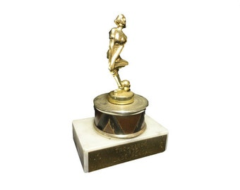 CLEARANCE Vintage Bowing Trophy - Vintage 1970s Trophy Award, Last Place Trophy, Vintage Sports Trophy, Gag Gift, Bowling Ball Female Bowler