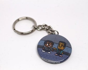 Community Troy and Abed keychain
