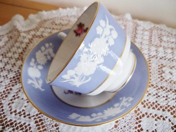 Spode Maritime Rose teacup and saucer set
