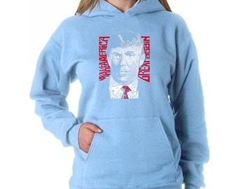Women's Hooded Sweatshirt - Donald Trump