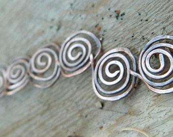Copper spiral bracelet copper jewelry