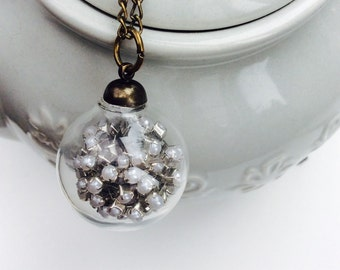 Glass orb pendant
