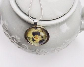 Real flower pendant
