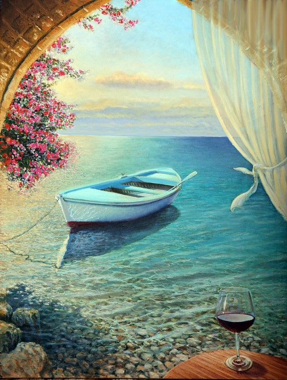 A Poem of the Sea - Original Oil Painting on canvas by Miki Karni