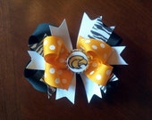 """USM Southern MIss boutique LARGE size Hair Bow, choose your clip 5"""""""